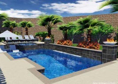Scottsdale glass tile for pool waterline