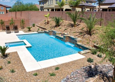 Scottsdale pool tile waterline