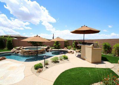 Scottsdale pools with baja shelf